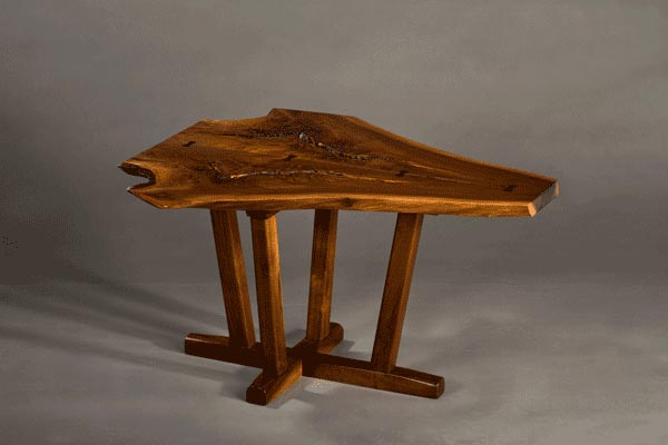 Air George table  Black walnut, ebony butterflies. 32″l x 22″w x 20″h