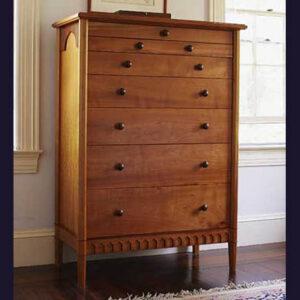 Bedroom set dresser: cherry with bubinga accents and handles 38″ W x 58″ H x 20″ D