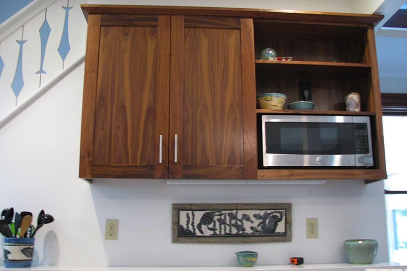 Black Walnut Kitchen Cabinets.