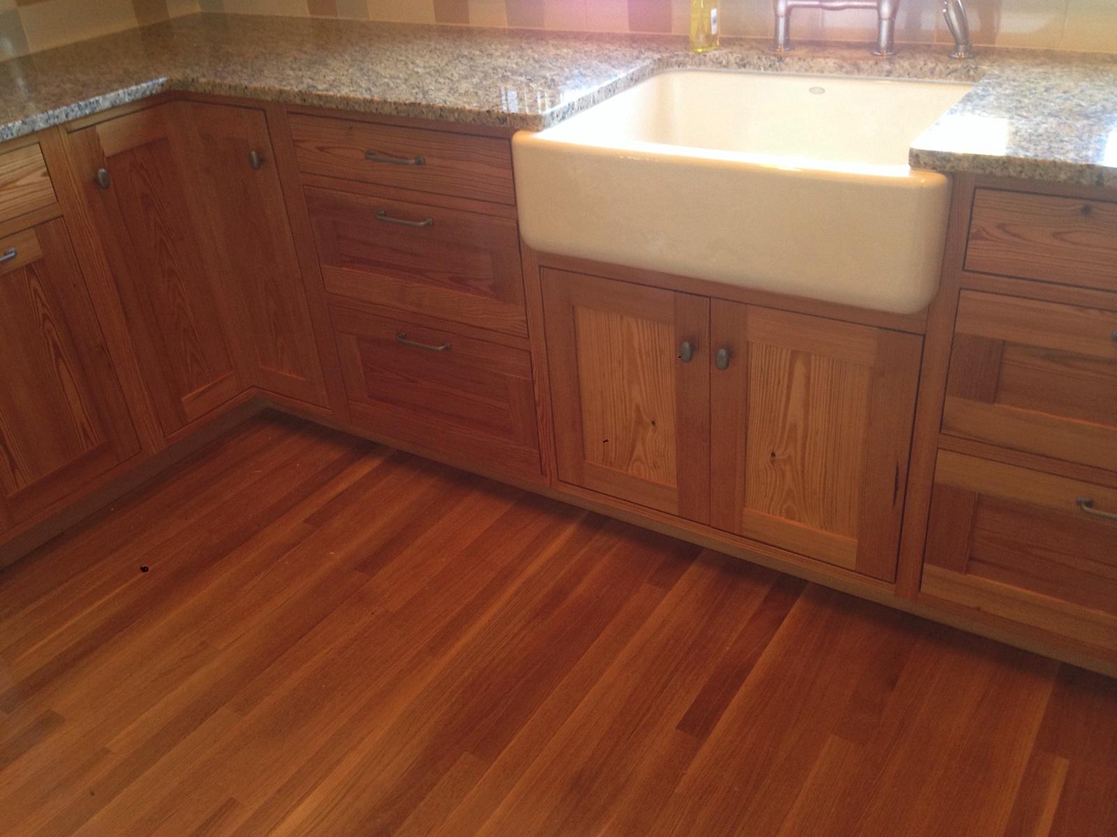 Southern yellow pine kitchen cabinets
